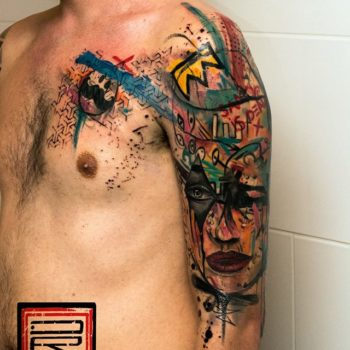george-drone-color-tattoo