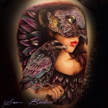 crow-woman-tattoo-by-Sam-Barber