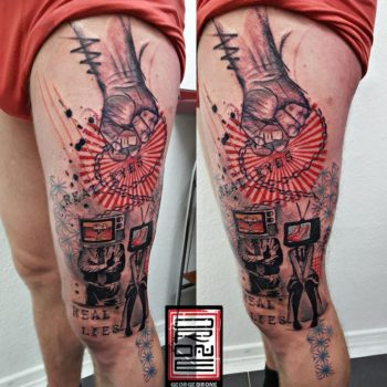 george-drone-leg-tattoo